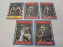MICK FOLEY WWE SIGNED AUTOGRAPHED LOT OF 5 SPORTS CARDS CERTIFIED COA