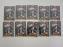 LOT OF 10 JOHNNY MANZIEL CLEVELAND BROWNS SIGNED SPORTS CARDS CERTIFIED COA
