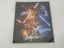 STAR WARS THE FORCE AWAKENS CAST SIGNED 8X10 PHOTO HARRISON FORD AND OTHERS CERTIFIED COA