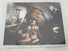 CARRIE FISHER, ANTHONY DANIELS STAR WARS SIGNED 8X10 PHOTO CERTIFIED COA