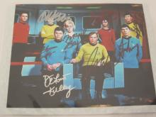 STAR TREK CAST SIGNED AUTOGRAPHED 8X10 PHOTO LEONARD NIMOY, WILLIAM SHATNER AND OTHERS CERTIFIED COA