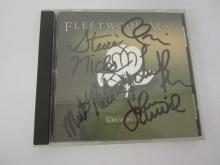 FLEETWOOD MAC BAND SIGNED CD ALBUM COVER STEVIE NICKS AND OTHERS CERTIFIED AUTHENTICATEDSIGNEDINK.COM