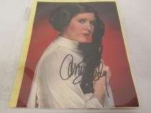 CARRIE FISHER SIGNED AUTOGRAPHED 8X10 PHOTO CERTIFIED COA
