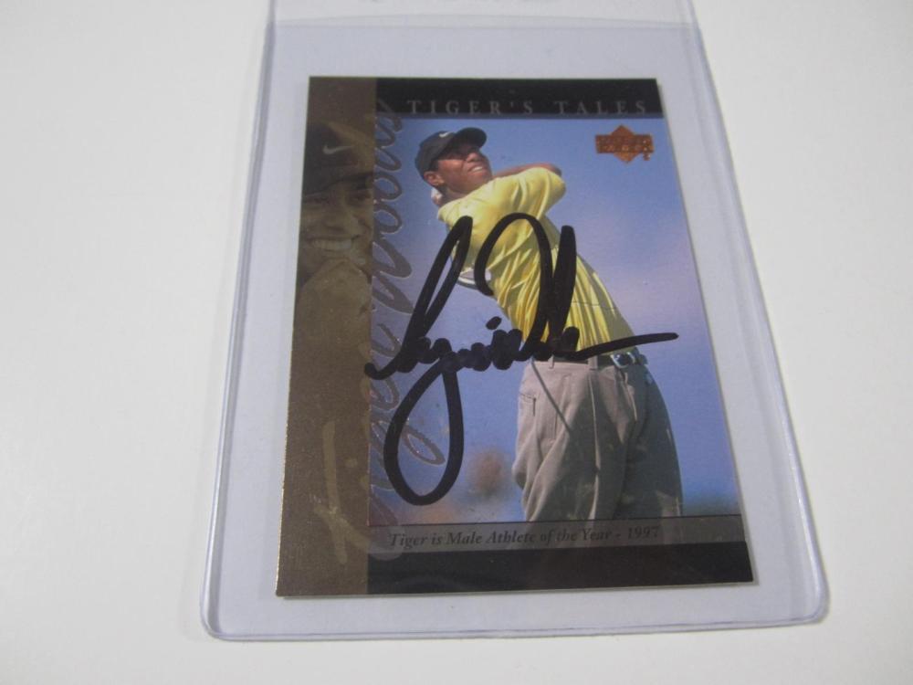 19e7b0d3ba8b Tiger Woods Signed Autographed Upper Deck Golf Card Certified CoA