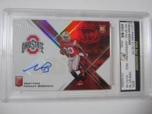 Lot 14: 2017 PANINI ELITE DP NOAH BROWN RED GRADED GEM MINT 10 AUTO
