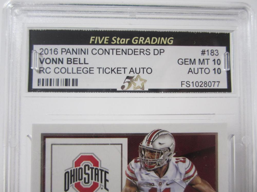 Lot 18: 2016 PANINI CONTENDERS DP VONN BELL RC TICKET GRADED GEM MINT 10 AUTO