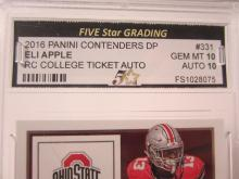 Lot 19: 2016 PANINI CONTENDERS DP ELI APPLE RC TICKET GRADED GEM MINT 10 AUTO