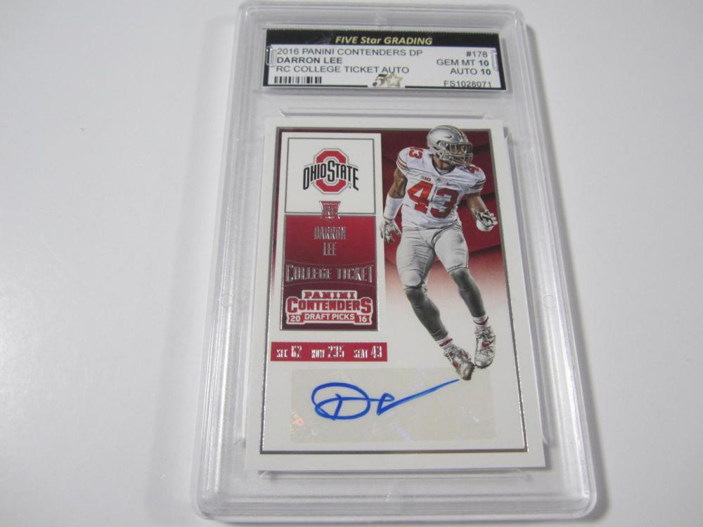 2016 PANINI CONTENDERS DP DARRON LEE RC TICKET GRADED GEM MINT 10 AUTO