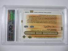 Lot 34: 2003 UPPERDECK MVP ROBINSON,PARKER DUAL PIECE OF GAME USED JERSEY CARD GRADED GEM MINT 10