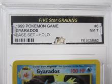 Lot 37: 1999 POKEMON GAME GYARADOS BASE SET -HOLO GRADED NM 7
