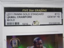 Lot 41: 2011 PANINI GOLD STANDARD JAMAL CRAWFORD GOLD GRADED GEM MINT 10 10/10
