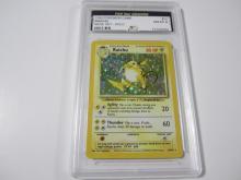 Lot 43: 1999 POKEMON GAME RAICHU BASE SET -HOLO GRADED NM-MT 8