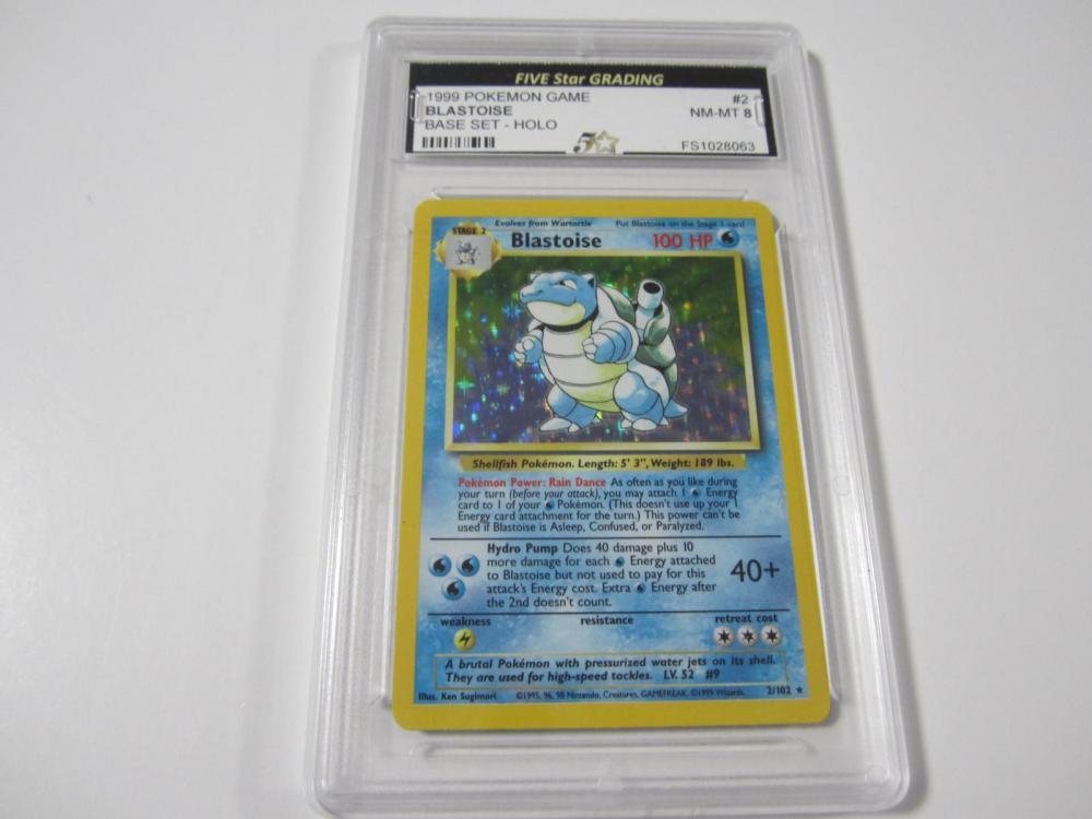 1999 POKEMON GAME BLASTOISE BASE SET -HOLO GRADED NM-MT 8