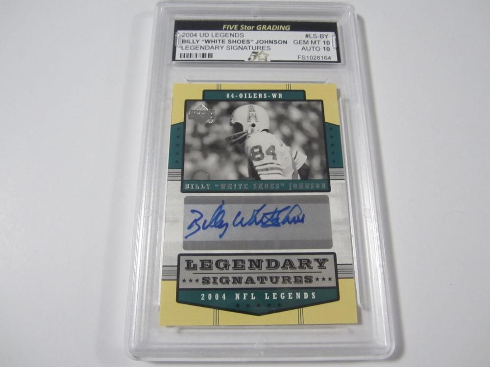 "2004 UD LEGENDS BILLY ""WHITE SHOES""JOHNSON LEGENDARY SIGNATURES GRADED GEM MINT 10 AUTO 10"