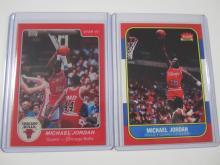 Lot 51: 1986-1984 FLEER/STAR MICHAEL JORDAN ROOKIE REPRINTS BULLS CARDS