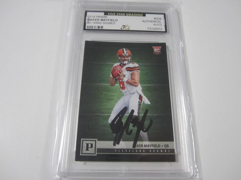 2018 PANINI BAKER MAYFIELD RC SIGNED AUTOGRAPHED GRADED AUTHENTIC