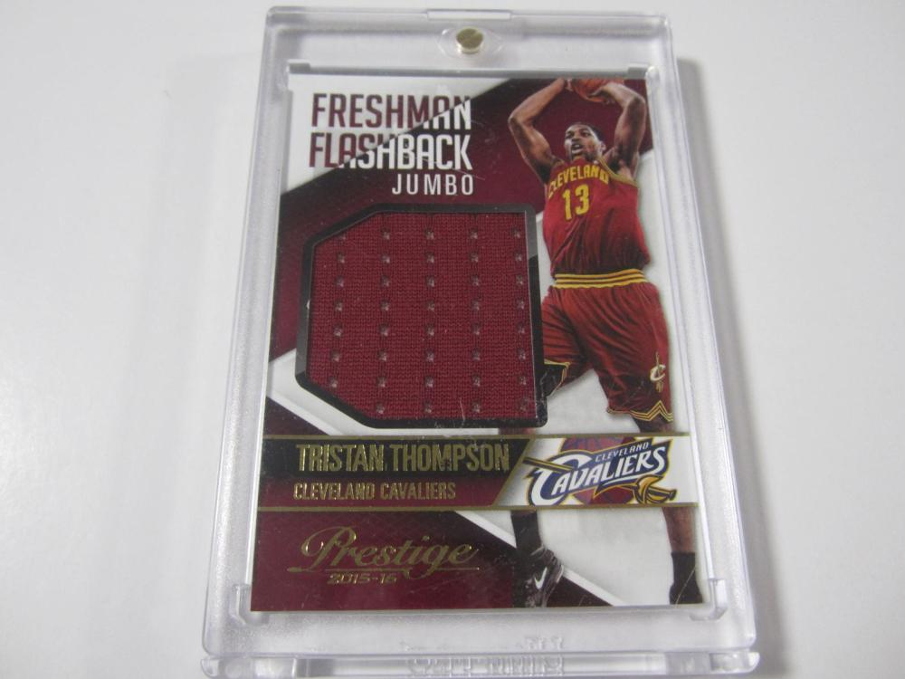 Lot 56: 2015 PANINI BASKETBALL TRISTAN THOMPSON PIECE OF GAME USED CAVALIERS JERSEY CARD