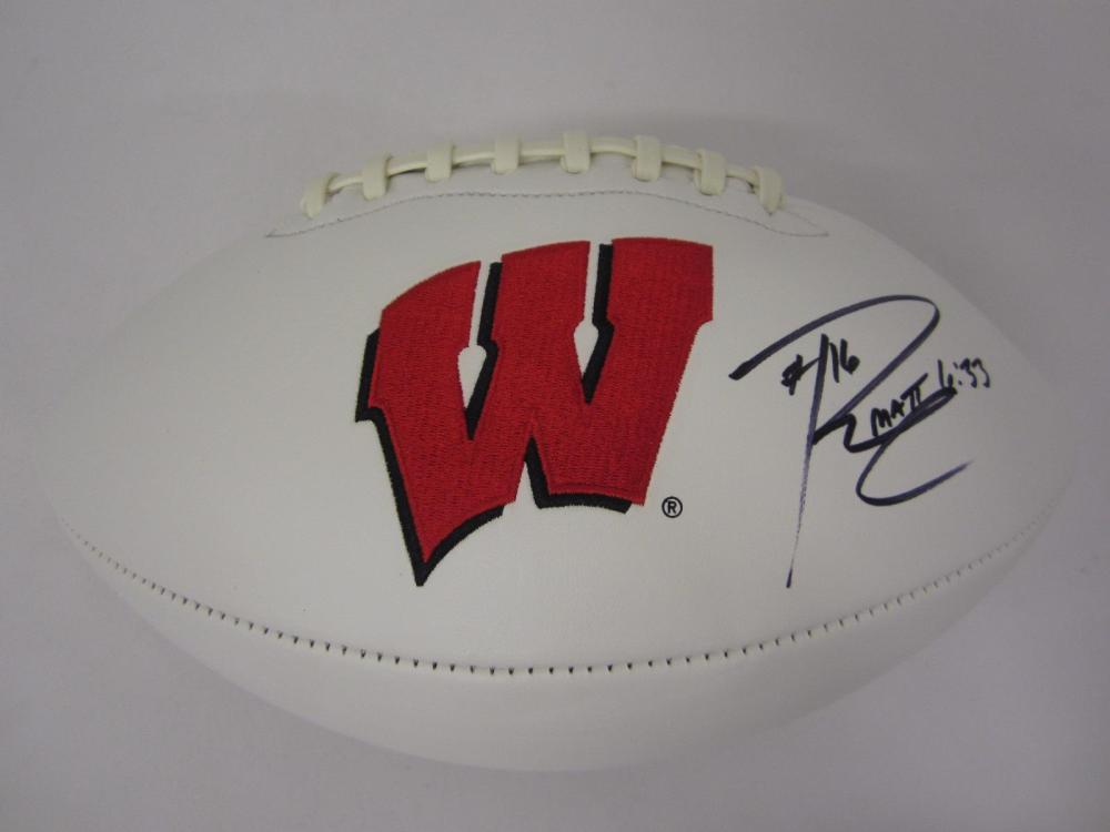 RUSSELL WILSON SIGNED AUTOGRAPHED BADGERS FOOTBALL COA
