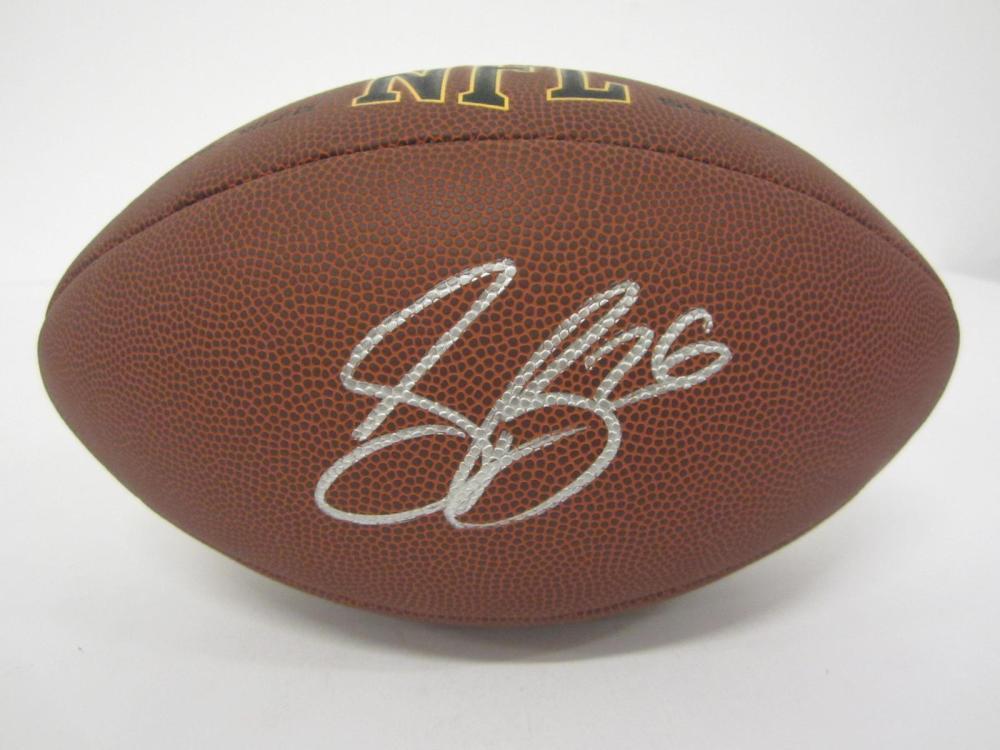 SAQUON BARKLEY SIGNED AUTOGRAPHED NFL SUPER GRIP FOOTBALL COA