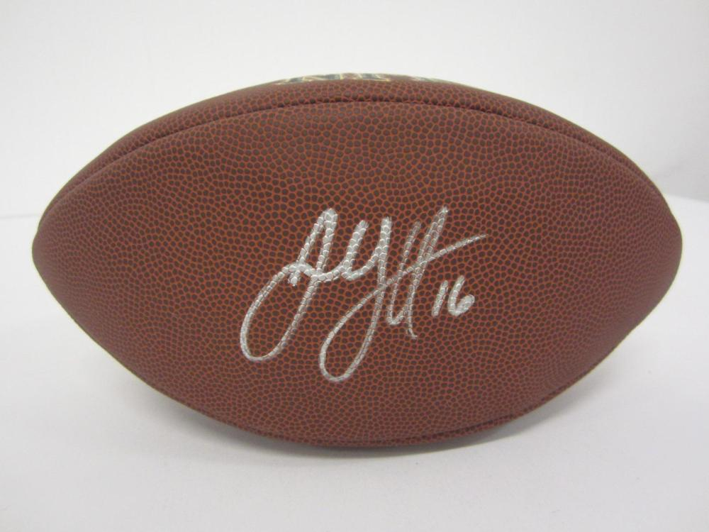 Lot 81: JARRED GOFF SIGNED AUTOGRAPHED NFL SUPER GRIP FOOTBALL COA