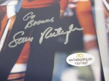 Lot 83: (10)SAM RUTIGLIANO SIGNED AUTOGRAPHED BROWNS 8X10 COA