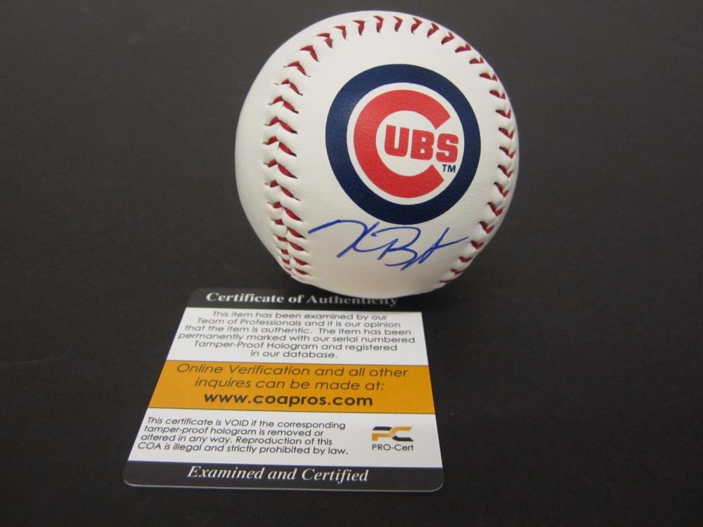 KRIS BRYANT SIGNED AUTOGRAPHED CUBS BASEBALL COA