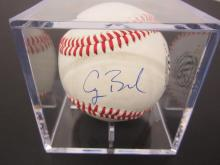 Lot 105: GEORGE BUSH SIGNED AUTOGRAPHED OLB BASEBALL COA
