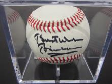 Lot 106: BILL CLINTON SIGNED AUTOGRAPHED OLB BASEBALL COA