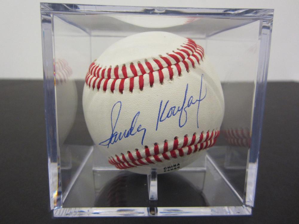 Lot 107: SANDY KOUFAX SIGNED AUTOGRAPHED OLB BASEBALL COA