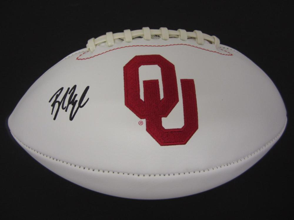 Lot 112: BAKER MAYFIELD SIGNED AUTOGRAPHED SOONERS FOOTBALL COA