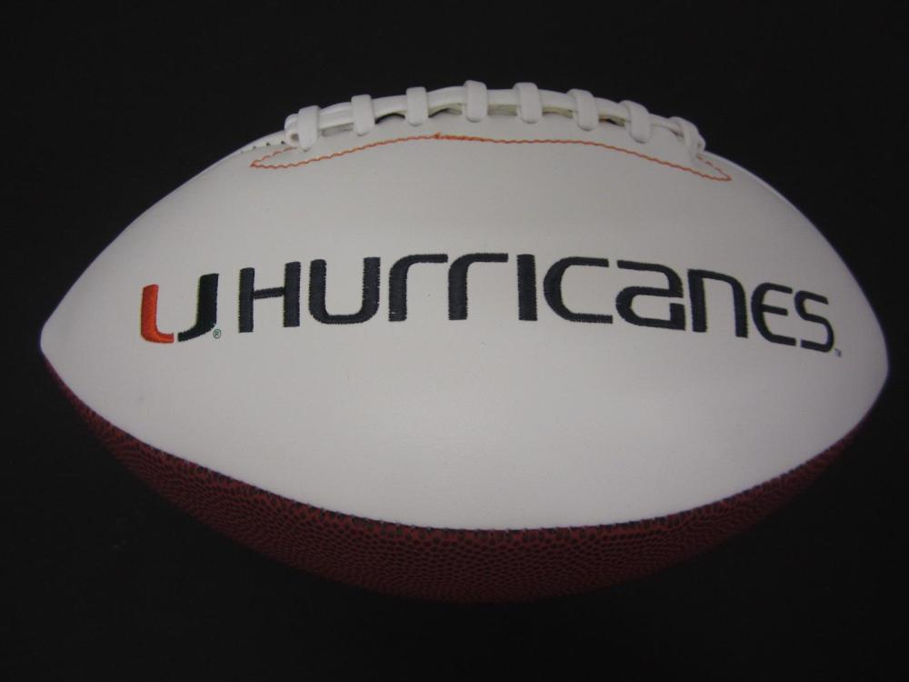 Lot 115: ED REED SIGNED AUTOGRAPHED HURRICANES FOOTBALL COA