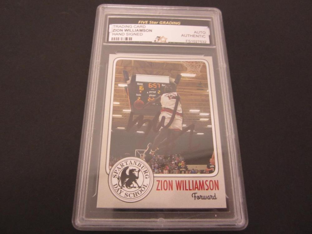 ZION WILLIAMSON SIGNED AUTOGRAPHED GRADED DUKE CARD AUTHENTIC