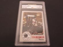 Lot 118: ZION WILLIAMSON SIGNED AUTOGRAPHED GRADED DUKE CARD AUTHENTIC