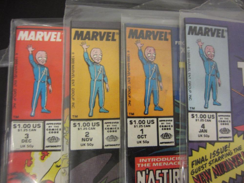 Lot 124: (4)X-TERMINATORS MARVEL COMIC BOOKS