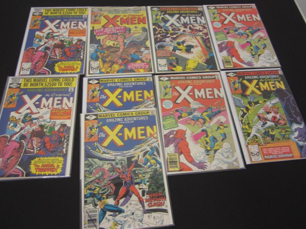(9)X-MEN MARVEL COMIC BOOKS