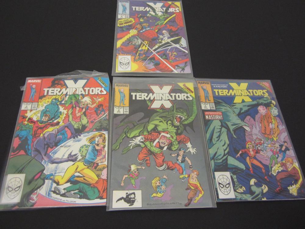 (4)X-TERMINATORS MARVEL COMIC BOOKS