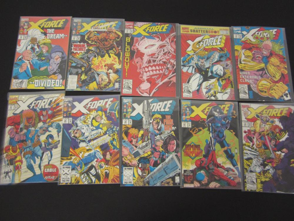 (10)X-FORCE MARVEL COMIC BOOKS