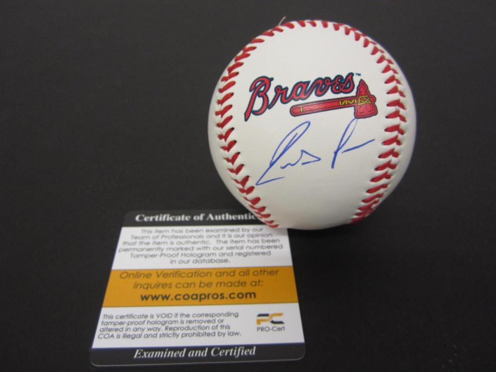 Lot 138: RONALD ACUNA JR. SIGNED AUTOGRAPHED BRAVES BASEBALL COA