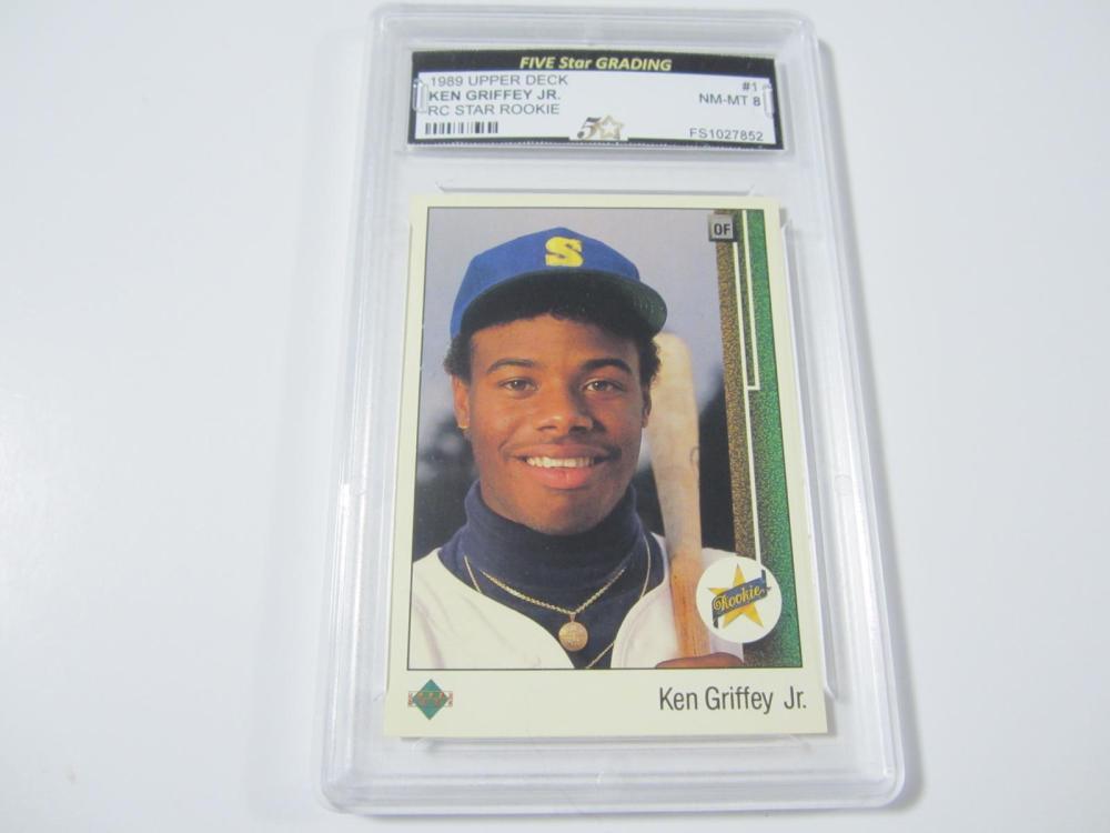 1989 UPPERDECK KEN GRIFFEY JR. RC STAR GRADED NM-MT 8