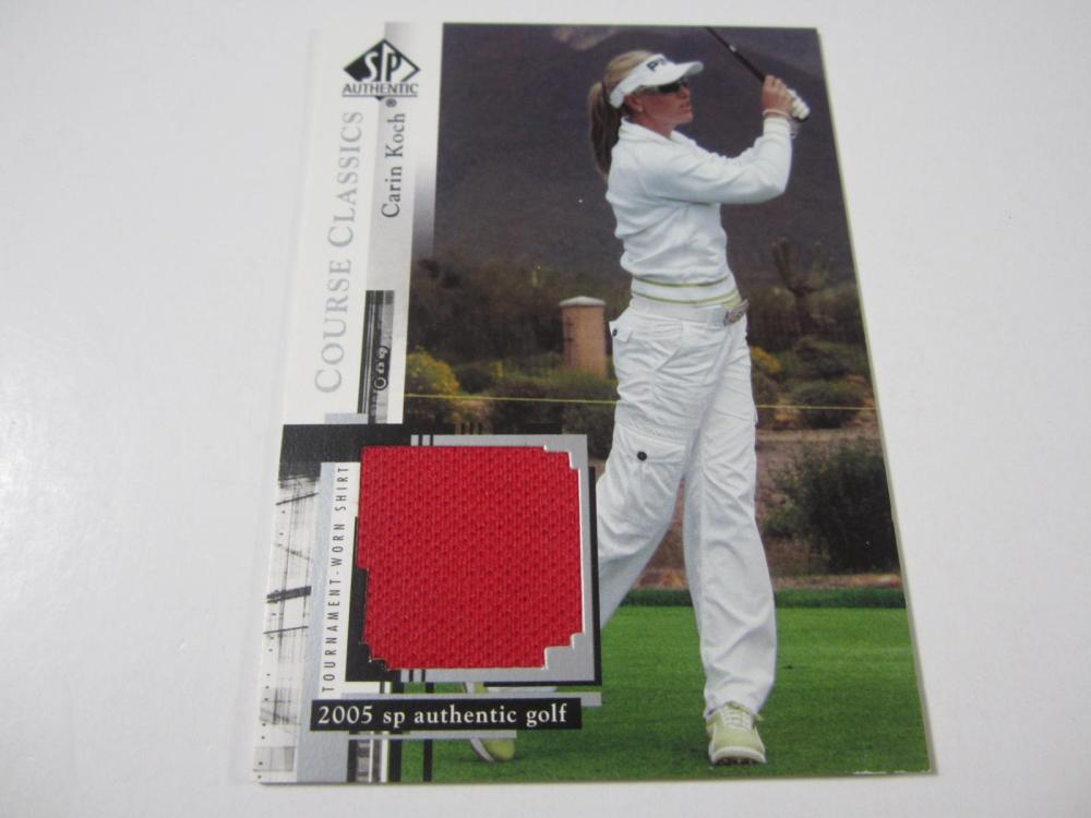 2005 UPPERDECK GOLF CARIN KOCH PIECE OF GAME USED SHIRT CARD