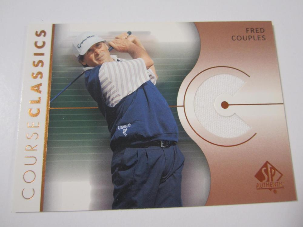 2003 UPPERDECK GOLF FRED COUPLES PIECE OF GAME USED SHIRT CARD
