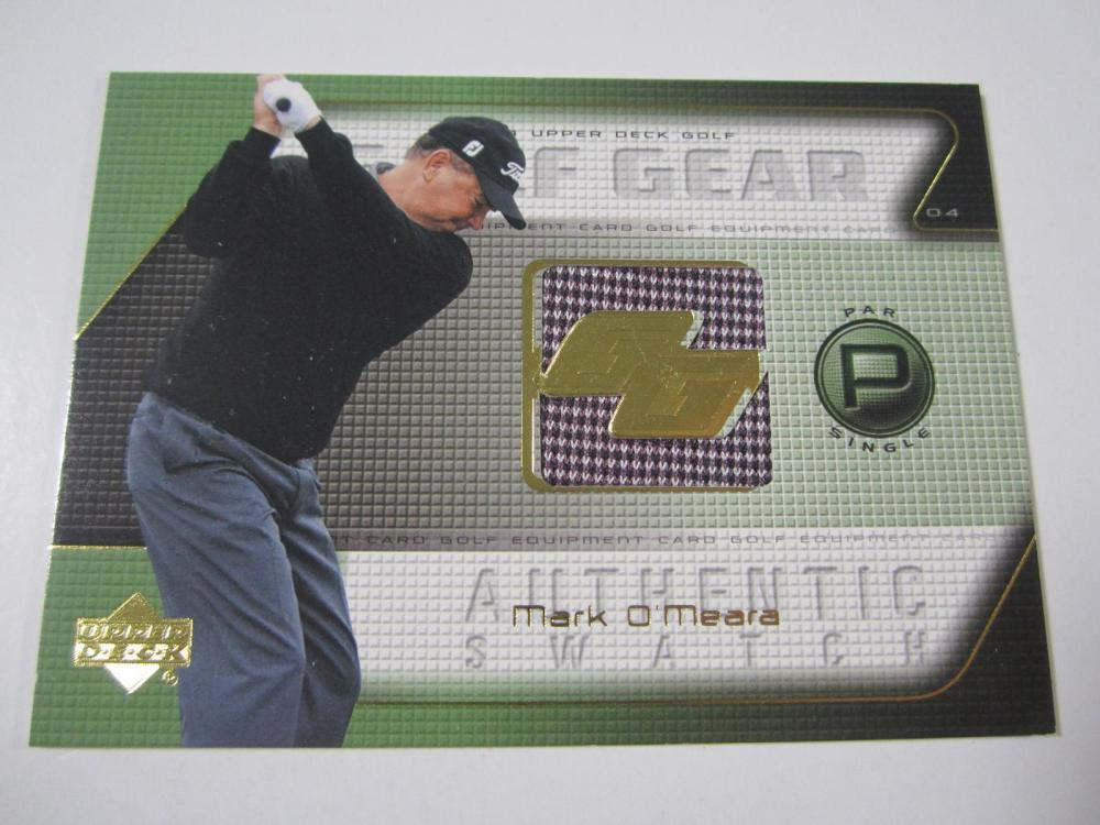 2004 UPPERDECK GOLF MARK O'MEARA PIECE OF GAME USED SHIRT CARD