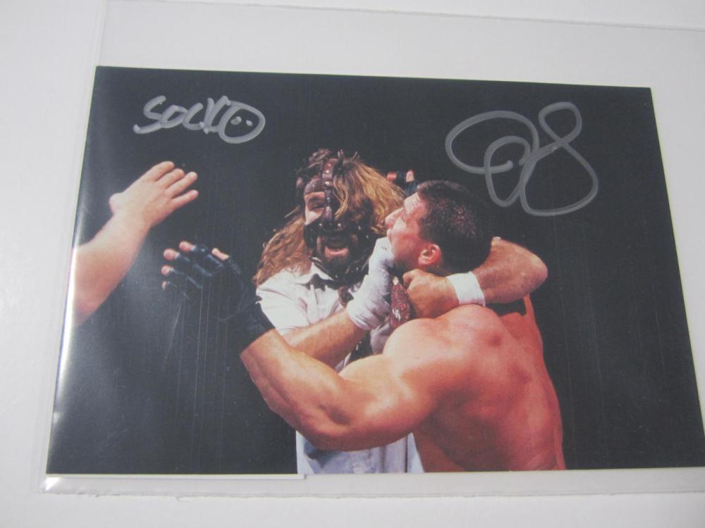 MICK FOLEY SIGNED AUTOGRAPHED WWE 8X10 COA