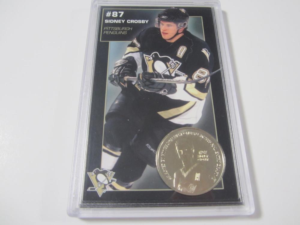 SIDNEY CROSBY PITTSBURGH PENGUINS COIN CARD