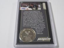 Lot 181: SIDNEY CROSBY PITTSBURGH PENGUINS COIN CARD
