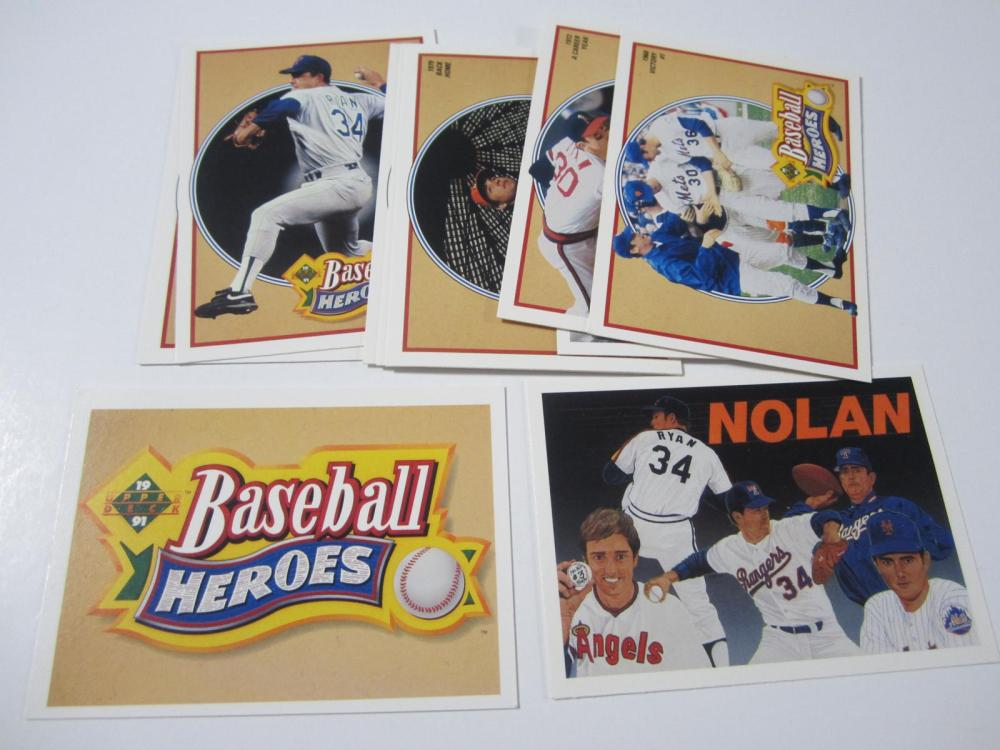 1991 UPPERDECK BASEBALL NOLAN RYAN BASEBALL HEROES SET