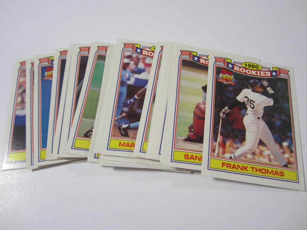Lot 198: 1990 TOPPS BASEBALL THE ROOKIES COMPLETE SET 33 CARDS