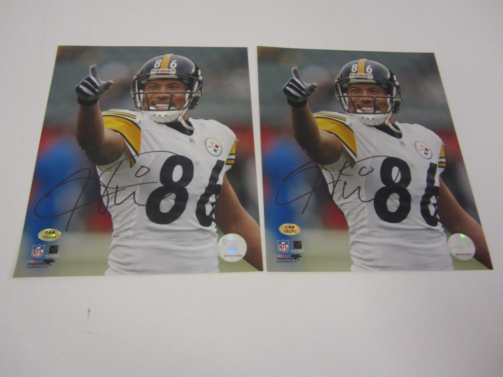 a639acba35e Hines Ward Steelers signed autographed lot of 2 8x10 Photos Certified Coa