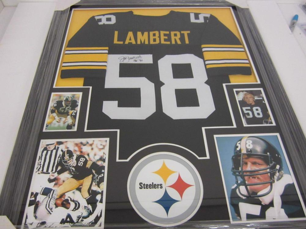 d89f8cdfbcf Jack Lambert Pittsburgh Steelers Hand Signed Autographed Jersey Framed  Matted Certified COA