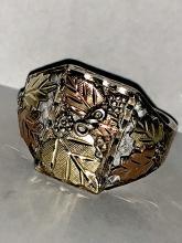 Men's 12K gold and sterling Black Hills Gold Men's ring.